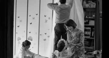 Nel suo Abito da Sposa